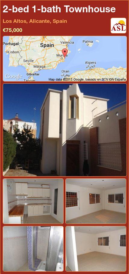 2-bed 1-bath Townhouse in Los Altos, Alicante, Spain ►€75,000 #PropertyForSaleInSpain