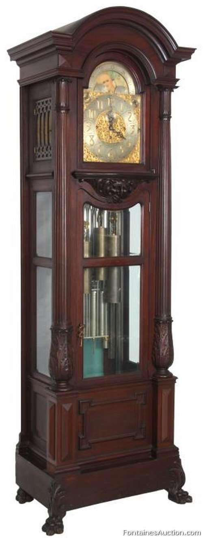 Waltham 9 Tube Grandfather Clock Lot 123 Estimate 6000