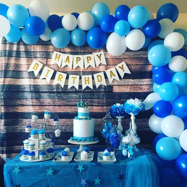 Backdrop Dessert Candy Table Rental For Sale In Mission Viejo Ca Blue Birthday Parties Birthday Party Decorations Shark Themed Birthday Party
