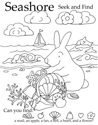 Seek and Finds | Summer coloring pages, Coloring pages ...