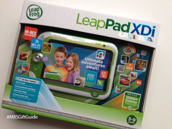The LeapPad Ultra XDi is the perfect gift for any 3-9 year old. It's wifi ready, has a large screen and has access to over 1000 games! #MBSGiftGuide #Giftidea #kidgifts #LeapFrog #LeapPad