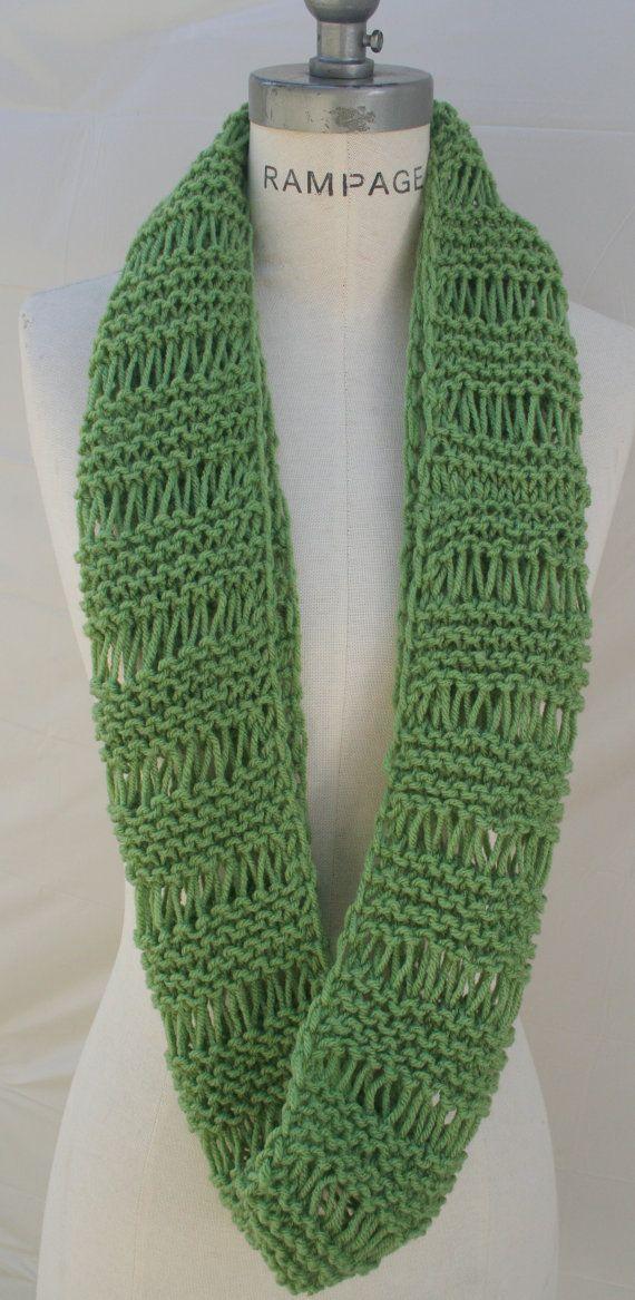 Mejor venta artículos Handknit pañuelo verde punto por PIYOYO