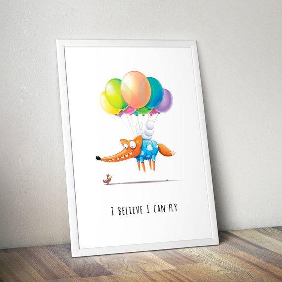 Fox dreamer poster by MarLitoys on Etsy