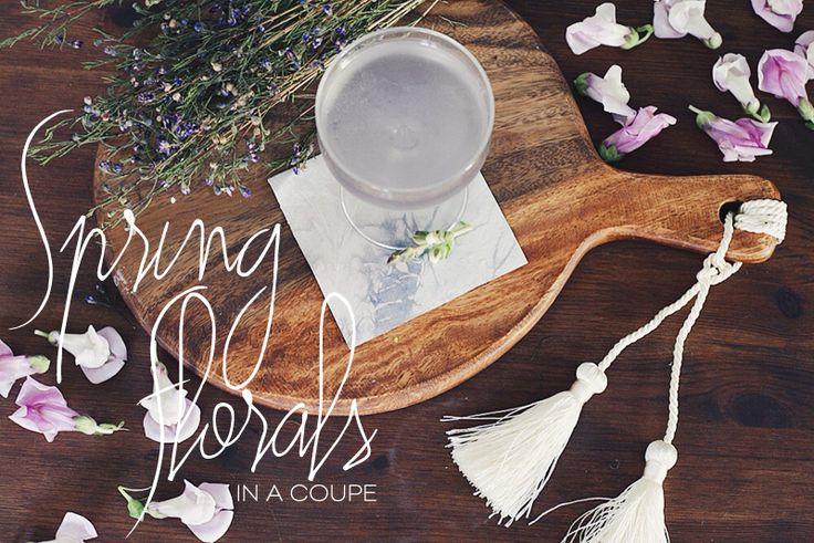 Happy Hour: Creme De Violette Spring Cocktail - Dine X Design