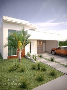 projeto de moradia térrea 180 metros condomínio fachada moderna terras sao bento fac …   – Minha casa