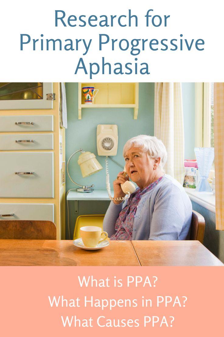 Research on primary progressive aphasia aphasia