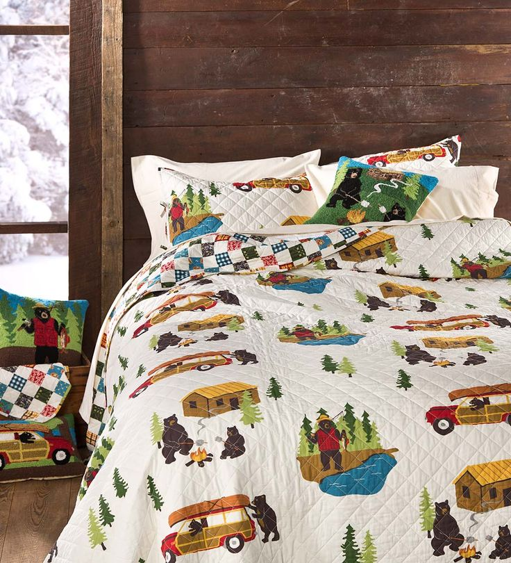 Reversible Bear Lake Quilt Set King Collection Accessoriesverified Er