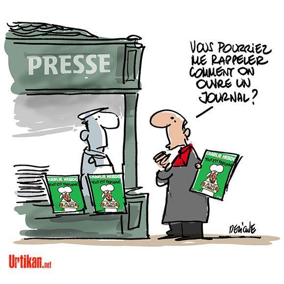 #JeSuisCharlie : Retour au kiosque - Dessin du jour - Urtikan.net
