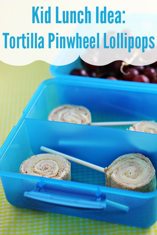 Kid Lunch Ideas: Tortilla Pinwheel Lollipops To start, combine 8 ounces of softened cream cheese with half of a packet of ranch dressing mix (1/2 ounce). Mix up the cream cheese and dressing mix until it's fully combined