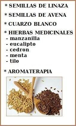 que semillas usar para cojines terapeuticos
