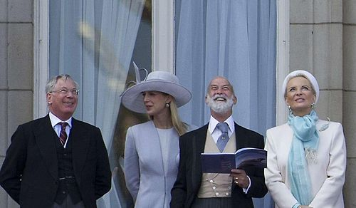 From left to right: The Duke of Gloucester, Lady Gabriella Windsor and Prince & Princess Michael of Kent, Trooping of the Colour 2013.