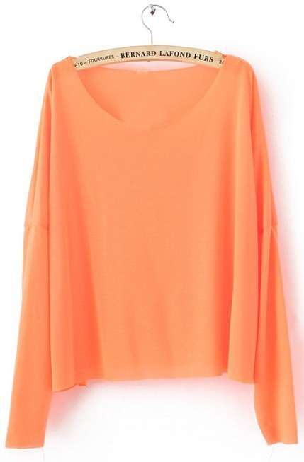 Orange Drop Shoulder Long Sleeve Scoop Neck Knitted Thin JumperDrop Shoulder, Orange Drop, Scoop, Orange Sweaters, Neck Knits, Long Sleeve, Accent Colors, Knits Thin, Dreams Closets