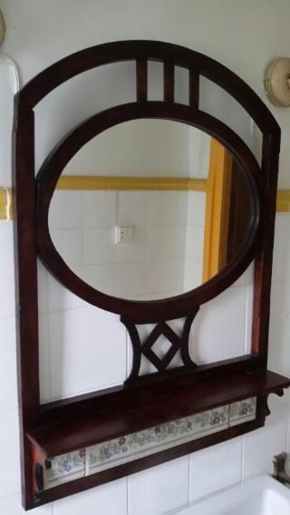 Espejo antiguo baño de tren