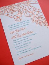 Traditional wedding invitation wording paired with a modern wedding website and green statement