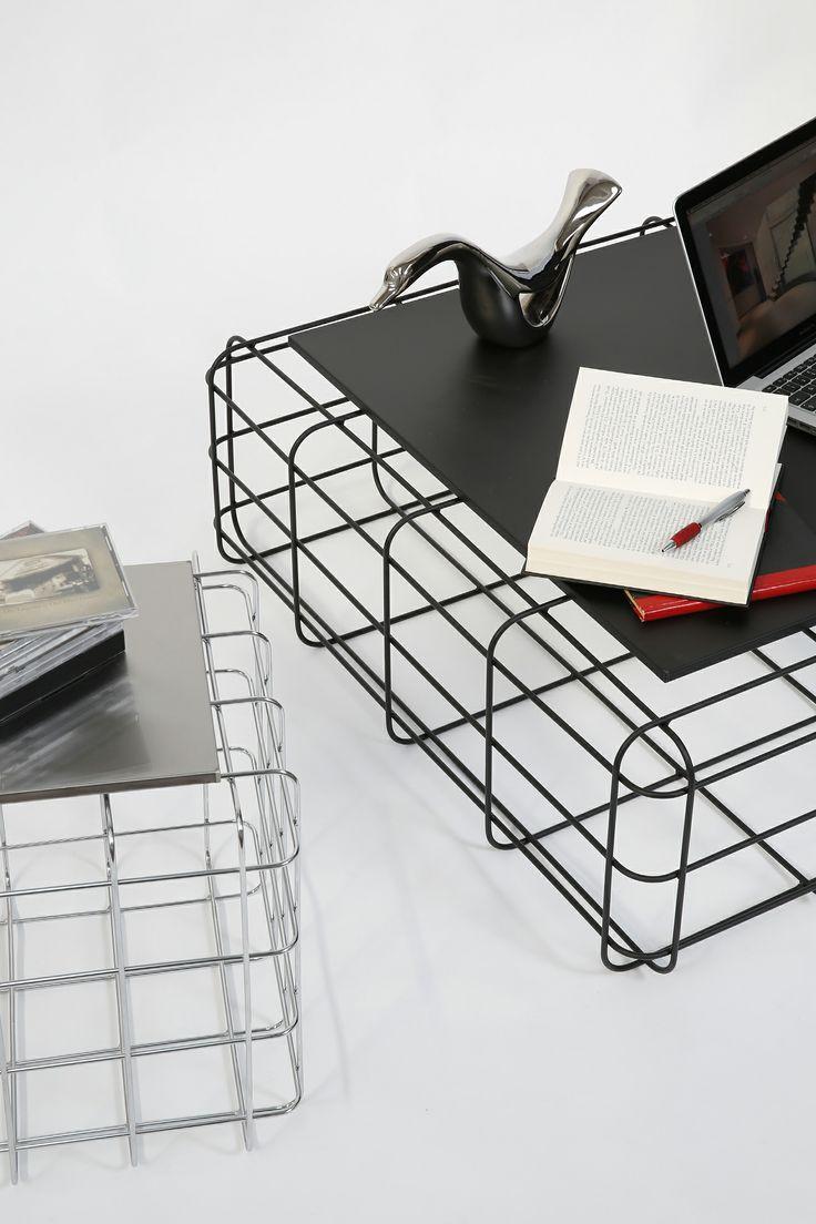 Wire by Ronda Design, design Luca Roccadadria #design #wire #coffeetable (details) #steel #furniture
