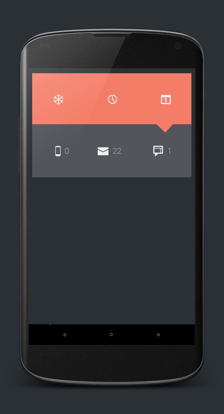 Mobile Menu UI Flat Design