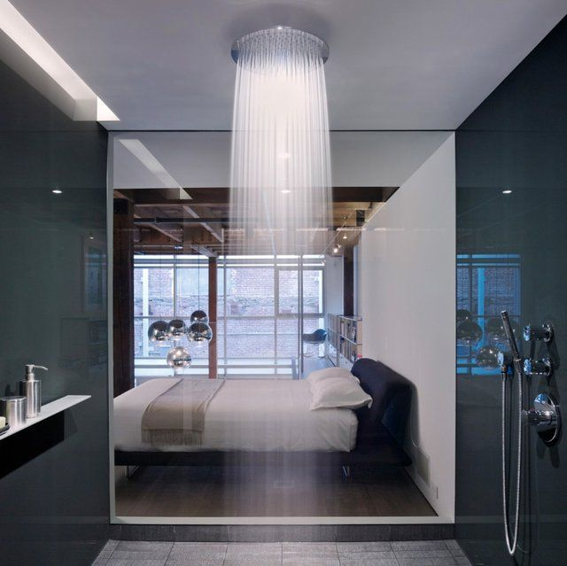 Sometimes a cool shower just has to look stunning.