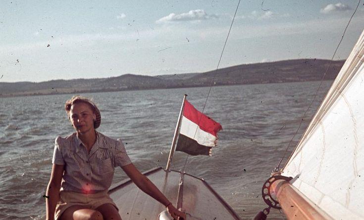 1942 Alsóörs, Vitorláshajó, fotó © Dr. Ember Károly