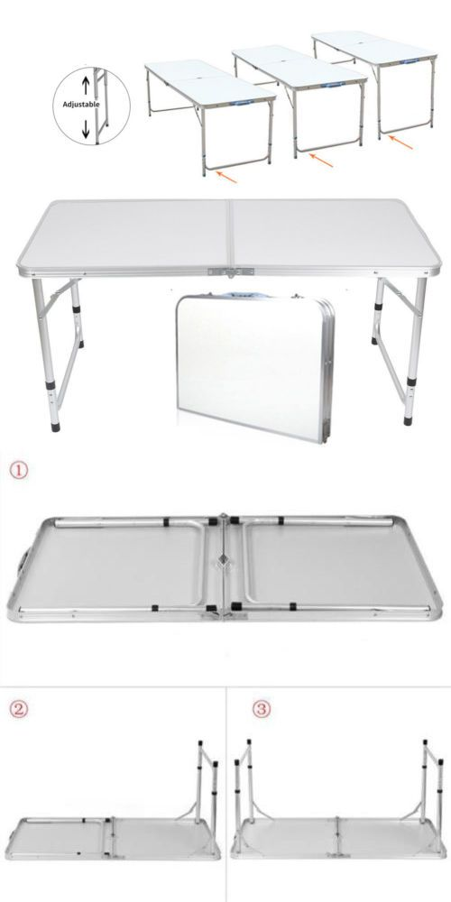 Camping Furniture  Ft Aluminum Camping Folding Table Portable Office Camping Picnic Bbq Buy It Now Only 24 99 On Ebay Camping Furniture