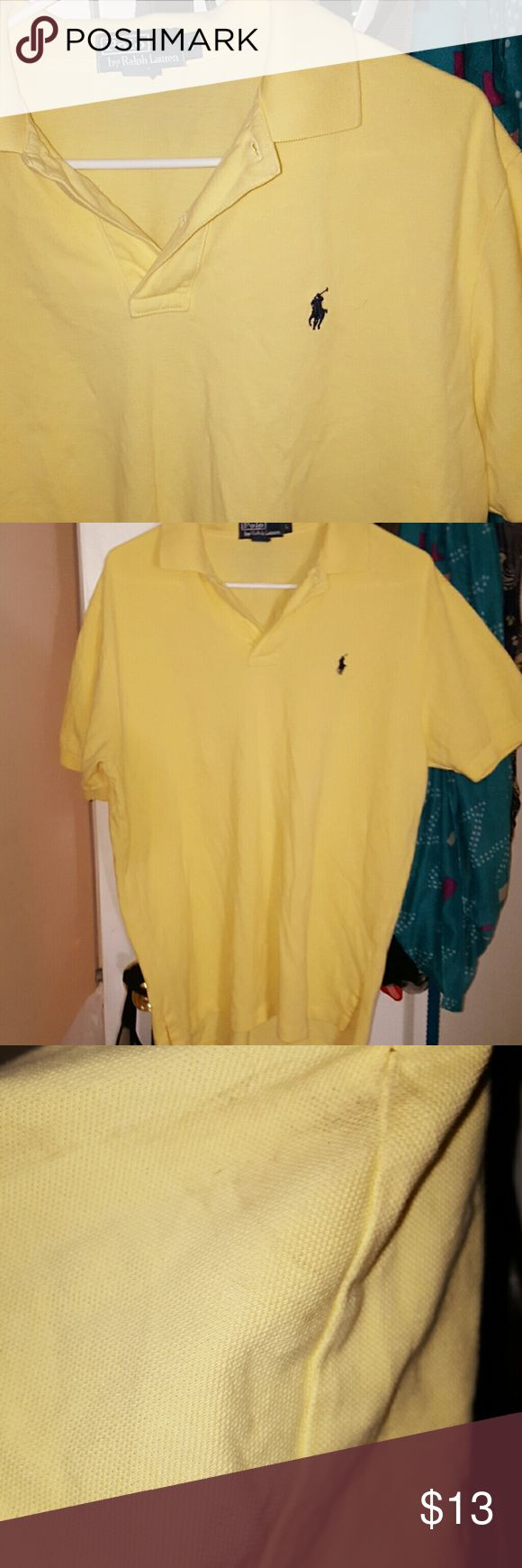 SALE!! Ralph Lauren Polo Gently used and in fair condition. There are some marks on the sleeve. I will wash before I ship out to see if they come out. Ralph Lauren Shirts Polos