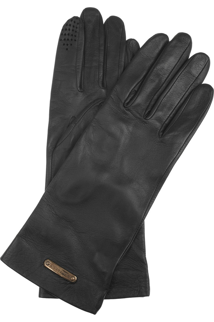 in my opinion, one of the finest glove makers, if not the finest. The special index finger tip lets you use a touch-screen and/or camera while keeping your hands warm.  BURBERRY SHOES & ACCESSORIES  Leather gloves  $375
