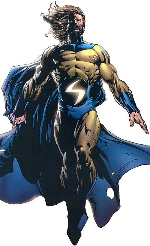 The Sentry (Bob Reynolds) (Marvel Comics) with a beard and a tattered costume