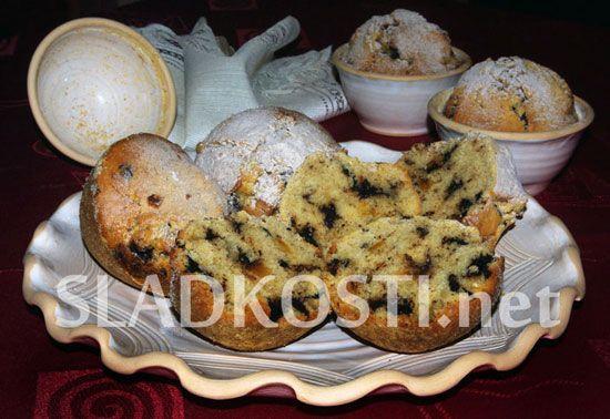 Šlehačkové muffiny s čokoládou