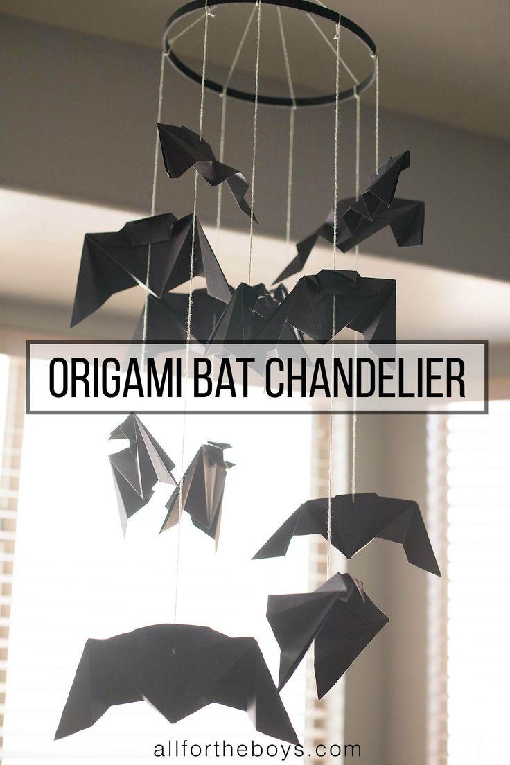 Origami Bat Chandelier: