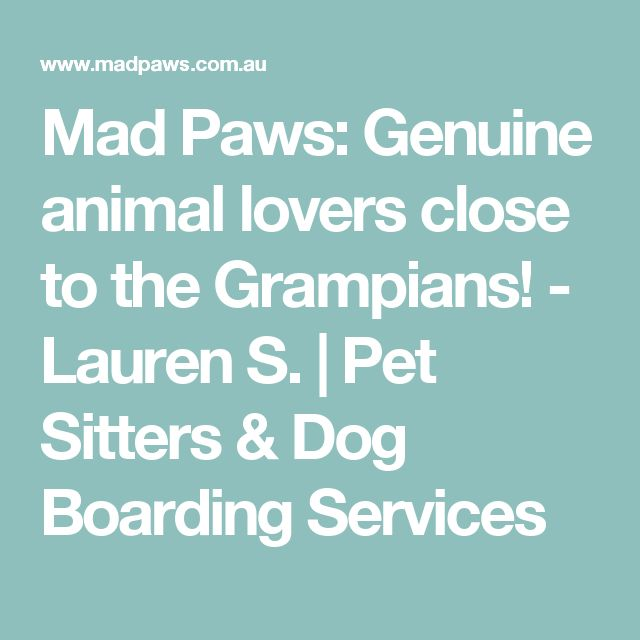 Mad Paws: Genuine animal lovers close to the Grampians! - Lauren S. | Pet Sitters & Dog Boarding Services