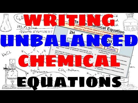 Printables 1000 Unbalanced Chemical Equation 1000 images about chemistry class videos on pinterest how to write unbalanced chemical equations