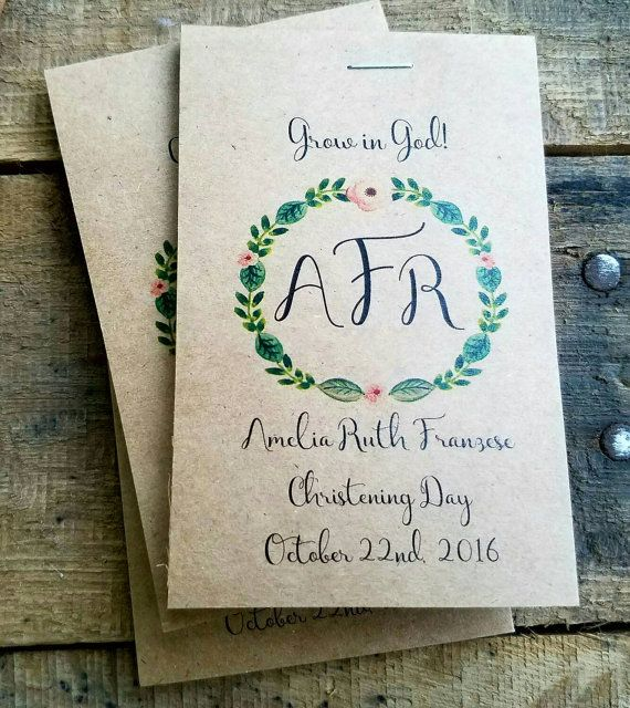 Monogrammed Baptism Favors Christening Favors Grow by SuLuGifts