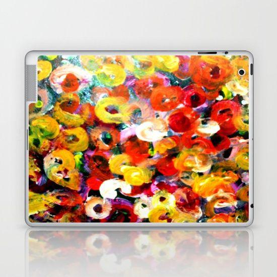 Aboriginal Art - Finger Painting Laptop & iPad Skin
