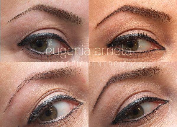 Micropigmentación de Cejas Pelo a Pelo realizada por Eugenia Arrieta.