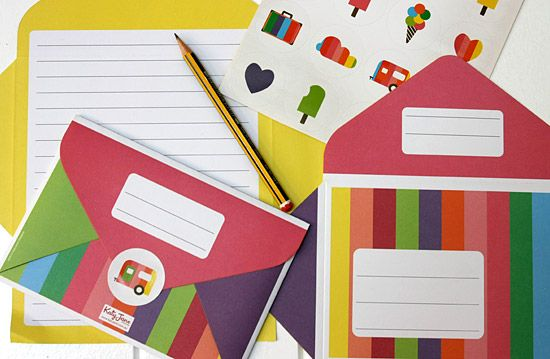 Children's Rainbow Letter Writing Pad - Great for kids or young at heart, By Katy Jane Designs 2012©. http://www.katyjane.com.au/html/letter_writing_pad.htm