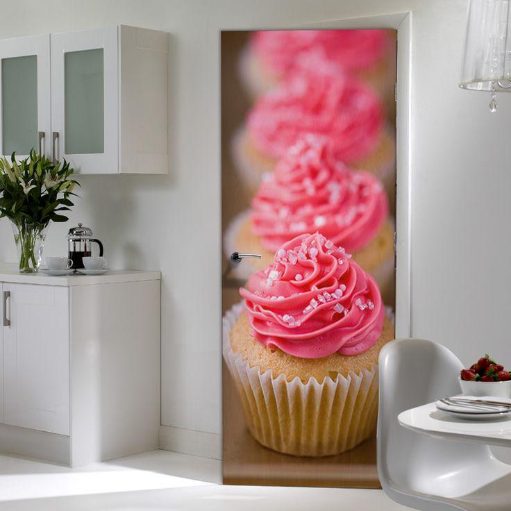 «Γλυκιά γεύση» στη κουζίνα μας...  #houseart #doorstickers #kitchen #design #idea #cupcakes
