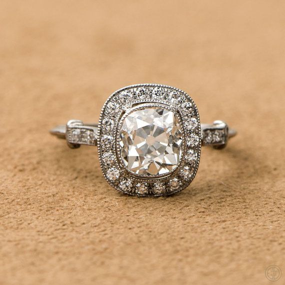 Etsy listing at https://www.etsy.com/ca/listing/255370927/diamond-halo-engagement-ring-antique