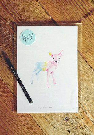 Rainbow Deer Illustration <3 Melkstore