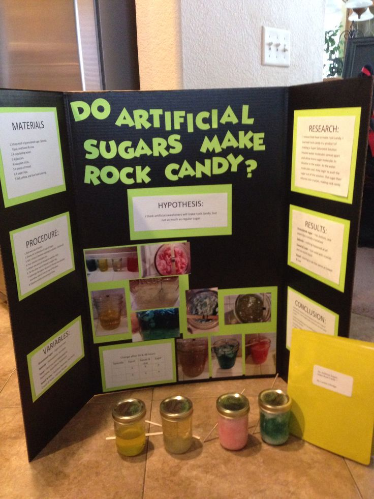 4th grade science project making rock candy