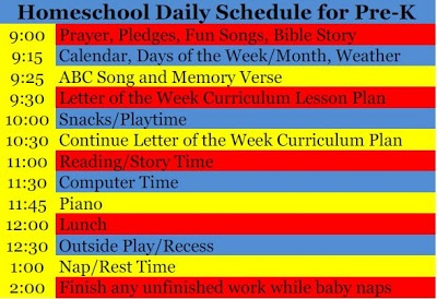 The Frugal Family Life: Our Homeschool Pre-K Daily Schedule!