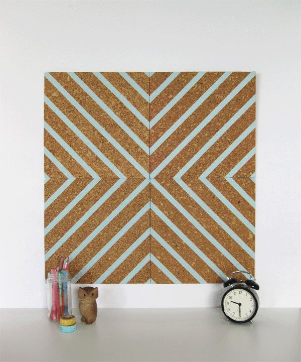 washi tape cork board.
