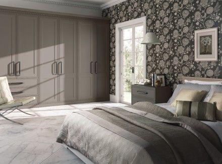 Fitted Wardrobes Design | Matt Stone Grey Tullymore