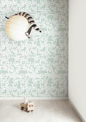 Bekijk de foto van Sterrebb met als titel schattig beestjes behang kinderkamer, ook inroze en andere inspirerende plaatjes op Welke.nl.