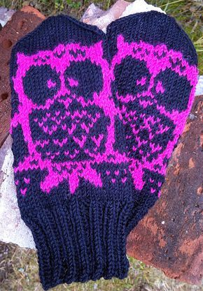 Cute free pattern: Tiny Owl mittens pattern by Milla H.