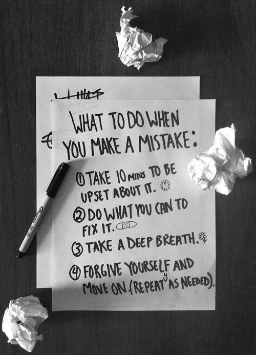 it's okay to be upset, it's okay to make mistakes