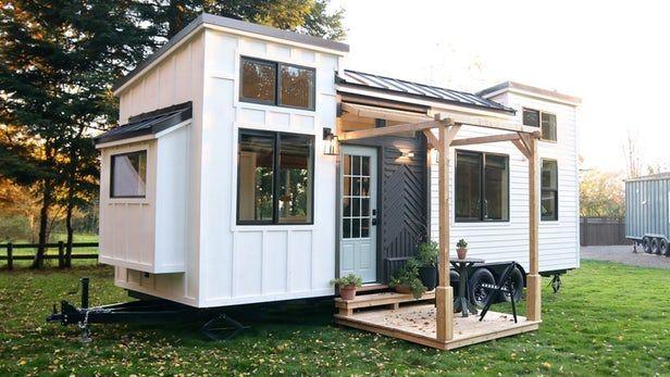 Tiny House Maximizes Space With Flexible Interior Tiny House Exterior Tiny House Listings Tiny House Interior Design