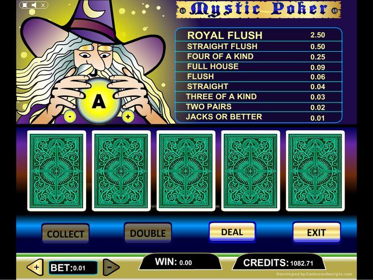 Buy Video Poker game for Online Casino - Mystic Video Poker Videopoker card