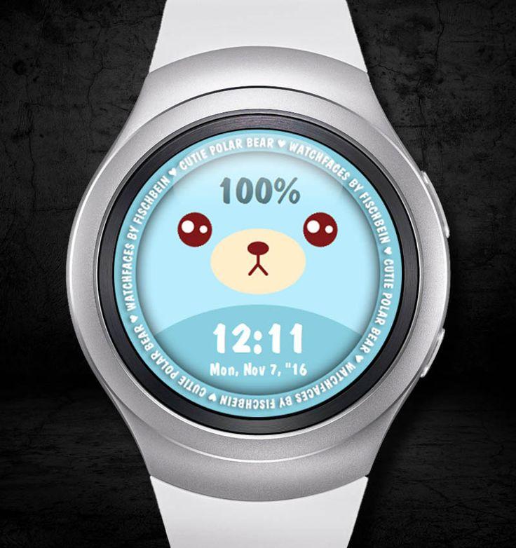 Cutie Polar Bear 24h – Watchfaces by Fischbein