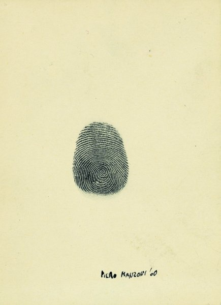 Piero Manzoni. Fingerprint. 1960