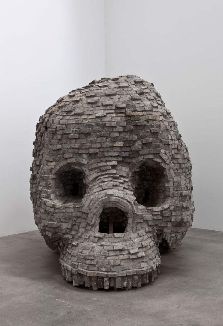 """Zhang Huan, work from """"49 Days,"""" a monumental exhibition of new brick sculpture by this Chinese-based artist. This is Zhang Huan's first one-person exhibition in Los Angeles as well as his first with Blum & Poe."""
