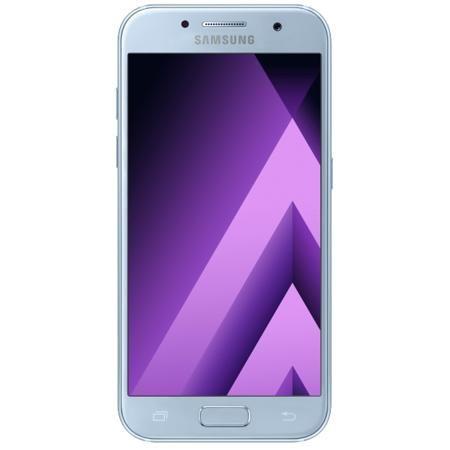 Samsung Galaxy A3 (2017) SM-A320F Blue  — 22990 руб. —  Стильный и минималистичный Современный минималистичный корпус из 3D-стекла и металла, а также 4,7-дюймовый экран HD sAMOLED - все это отличительные черты Galaxy A3 (2017).  Удобный и эргономичный Плавные линии корпуса, отсутствие выступов камеры, утонченная и элегантная отделка позволяют получить настоящее удовольствие от использования смартфона.  Современные цвета Будьте законодателями трендов, а не просто следуйте им. Модные цветовые…